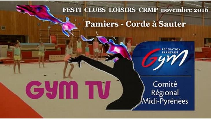 Gymnastique: le club de Pamiers présentait la Corde à Sauter au Festi Clubs Loisirs du 19 novembre à la MAG de #Colomiers