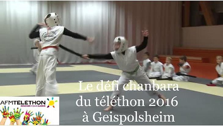 Pour le téléthon 2016 à Geispolsheim, la section Chanbara a relevé un défi