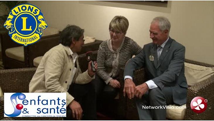 LISA  Lions Clubs Sports Action :  interview de Jean-Jacques Stoffel-Munck Lions Club International et de Marie-Hélène N'Guyen 'Enfants et Santé'