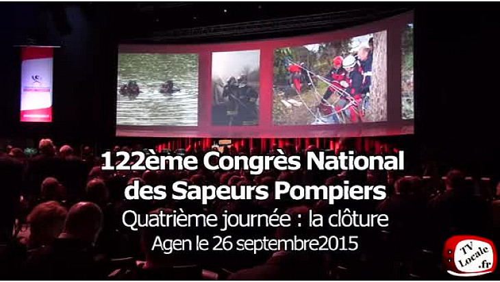 Cérémonies de clôture du 122ème Congrès National des Sapeurs Pompiers. @congresSP2015 #TvLocale_fr