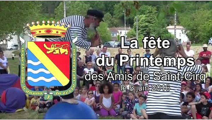Vidéo 3'26 ''. La fête du Printemps à Saint-Cirq.