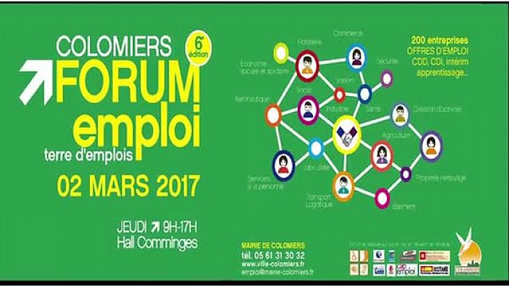 Colomiers, Forum de l'emploi : Plus de 200 entreprises #colomiers #emploi #job #TvLocale_fr