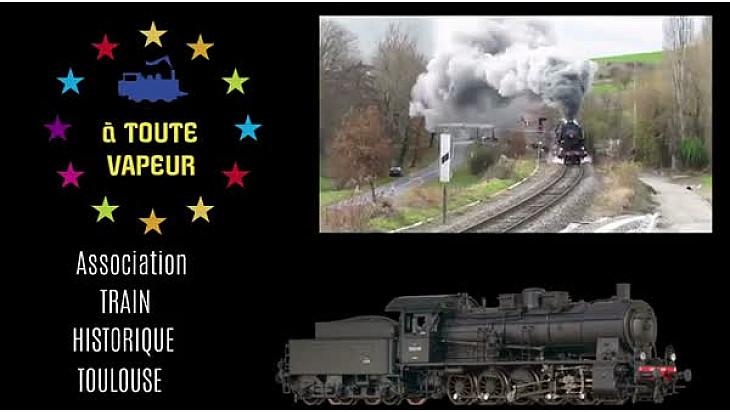 Train historique de Toulouse #141r #onyva #trainvapeur #tourismeoccitanie #TvLocale.fr