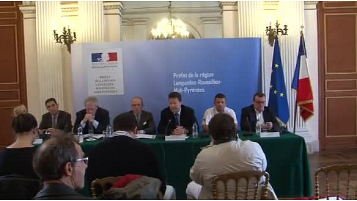@Toulouse : le médiateur national du crédit aux entreprises faisait un point sur la santé économique des entreprises à la #préfecture de #Haute_Garonne