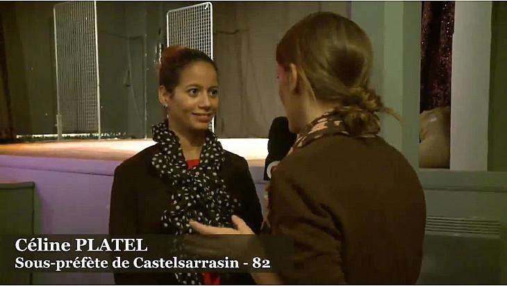 Céline Platrel, sous-prefète de Castelsarrasin, présente à la  la troisième édition de la mobilisation citoyenne organisée par les Francas 82 @Prefet_82