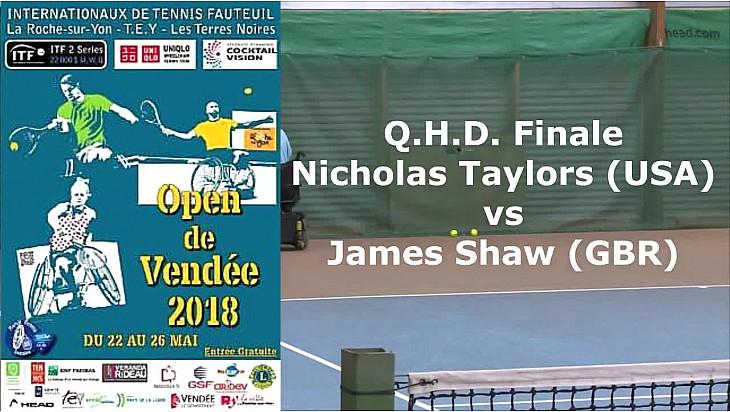 Open de Vendée - Tennis Fauteuil : Finale opposant Nicholas Taylors USA à James Shaw GB