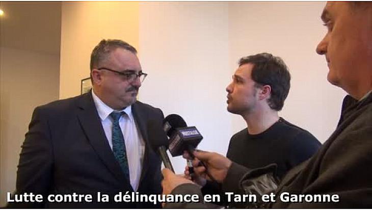 Lutte contre la délinquance en Tarn-et-Garonne - Pierre Besnard, Préfet et  Alix-Marie Cabot-Chaumeton, Procureur de la République
