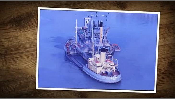 Patrimoine maritime:DynaMer présente la drague à vapeur TD6  du @MuséeMaritime #LaRochelle et le porteur #Saint Marc