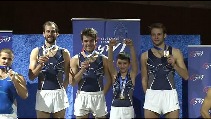 Trampoline Championnat de France par équipe 2017 en Nationale 1 Hommes: l'ACRO TRAMP SEVRAN médaille d'OR à Colomiers