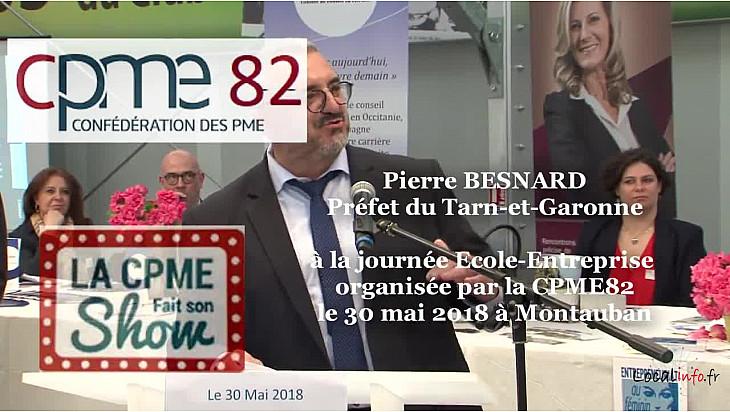 Intervention de Pierre Besnard Préfet du Tarn-et-Garonne à la journée Ecole-Entreprise organisée par la #CPME82 en présence de François Asselin #CPME @Prefet_82