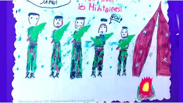 #SolidaritéDéfense : Le 23 juin dernier, les Militaires remerciaient les enfants haut-garonnais pour leurs dessins de Noël 2015