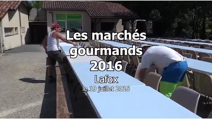 Vidéo 3'35''. Marchés gourmands de Lafox: saison 4.