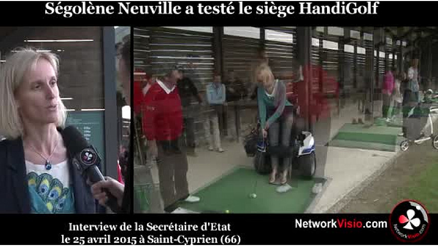 Ségolène NEUVILLE Secrétaire d'Etat chargée des personnes Handicapées au micro de #NetworkVisio