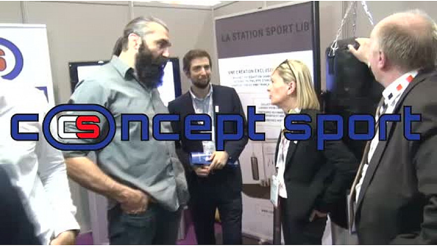 Sébastien CHABAL Fondateur de Concept Sport présentait la Station Sport Lib' durant le Salon des Maires d'Ile de France @sebchabal