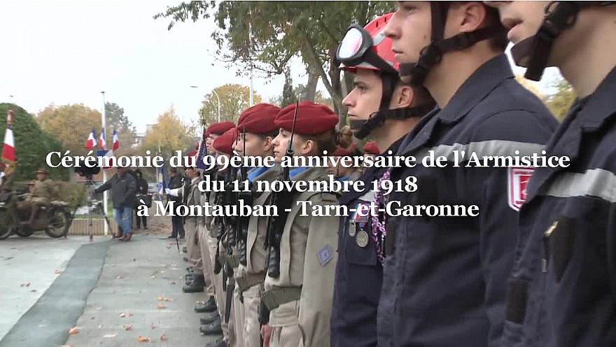 Cérémonie du 99ème anniversaire de l'Armistice du 11 novembre 1918 @Montauban @Prefet_82