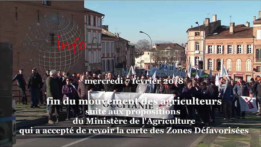 Carte des Zones Défavorisées : Les Agriculteurs arrêtent leur mouvement de contestation @FNSEA @tarnetgaronne_CG @Occitanie