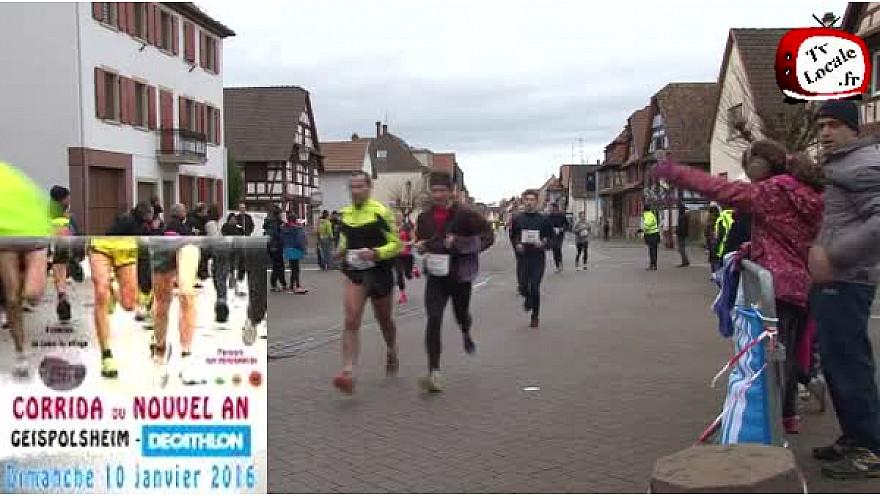 La corrida de Geispolsheim, ce 10 janvier 2016, a réuni 944 participants #TvLocale_fr