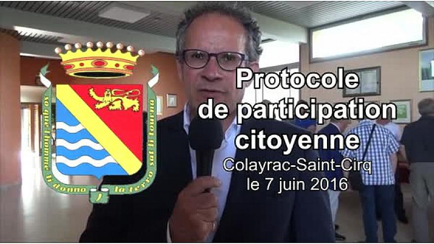 Vidéo 3'59''. Protocole de participation citoyenne à Colayrac.