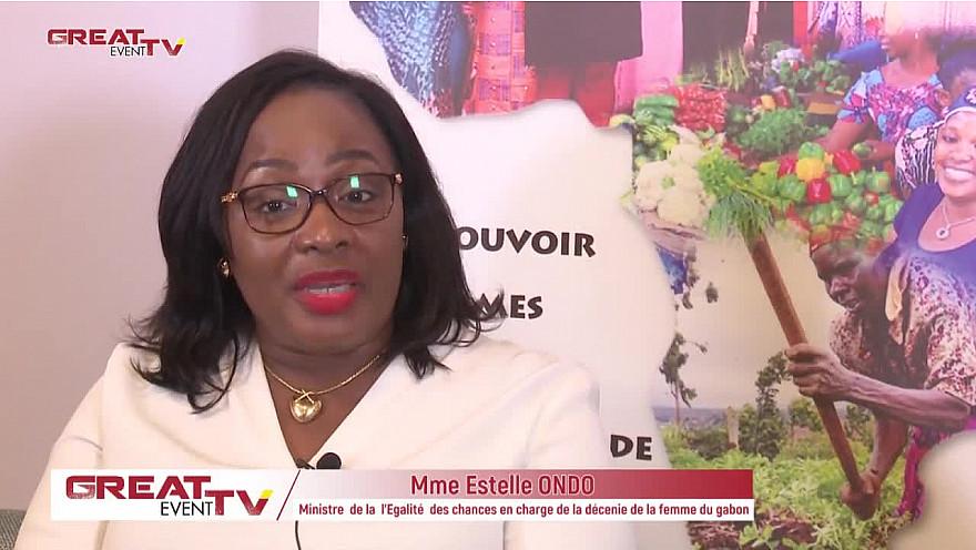 Entretien avecla ministre de la Famille chargée de la Décennie de la Femme du Gabon