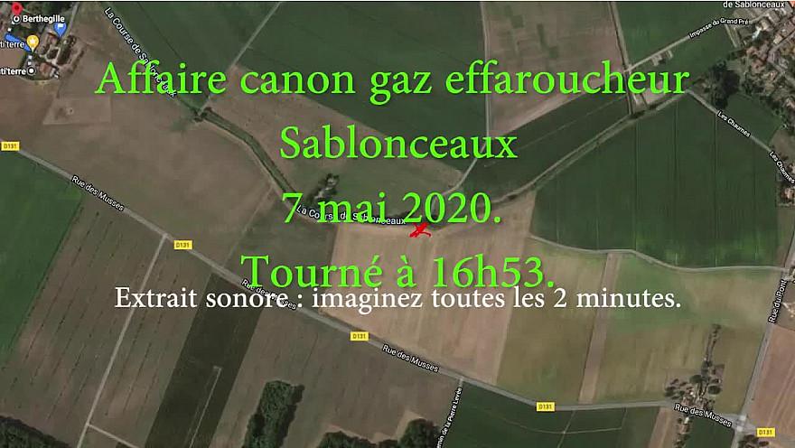 l'affaire du canon à gaz de Sablonceaux