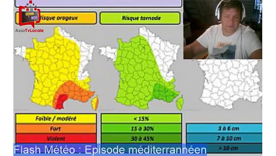 Flash Météo du Mercredi 4 Octobre : épisode méditerranéen