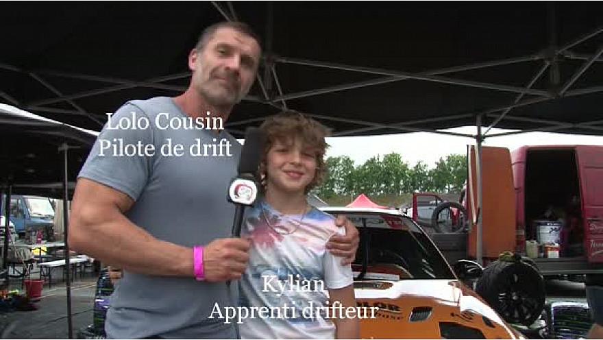 Lolo Cousin et son apprenti drifteur, apprenti mécano Kylian étaient à l'anneau du Rhin