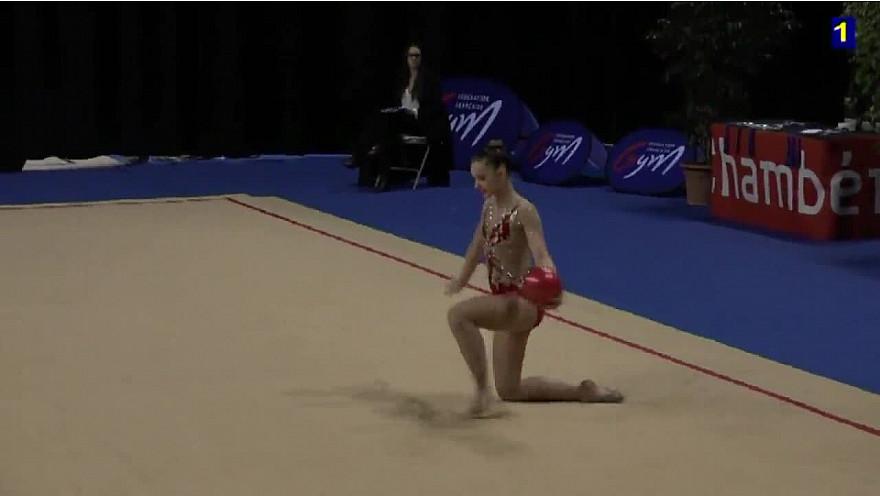 Exemples Difficultés Ballon en Gymnastique Rythmique