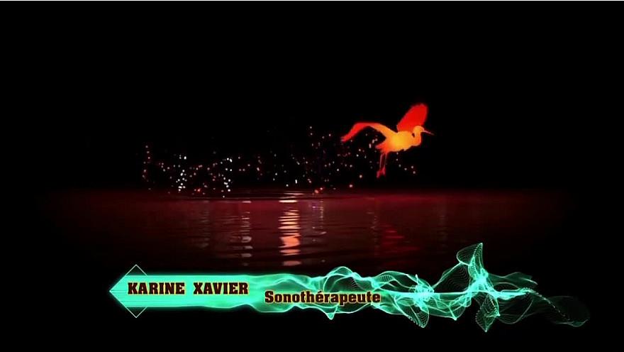 Karine Xavier Sonothérapeute  #sonotherapie #bainsonore #bolchantant  #yogaduson #soundbath #tvlocale.fr #occitanie
