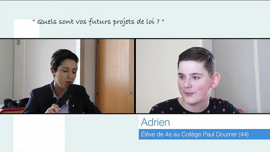Adrien, 13 ans, rencontre la Députée Sarah El Haîry @nortsurerdre @députée @collége @institution @LeProjetMédiavisuel