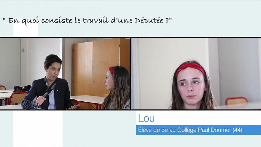 Lou, 13 ans, rencontre la Députée Sarah El Haîry  @sarahelhairy