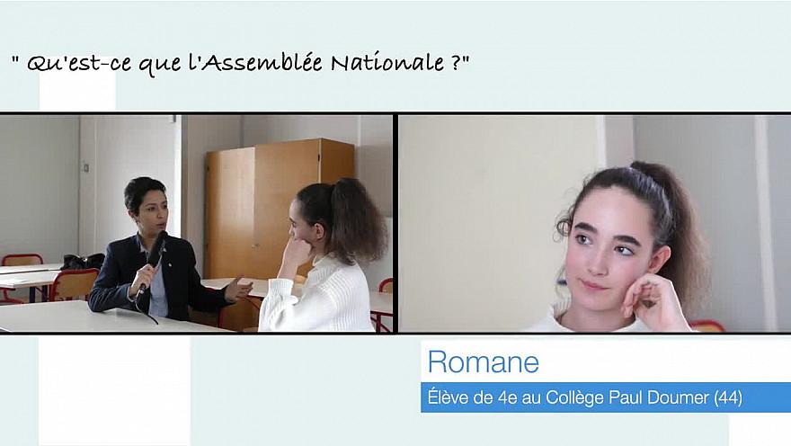 Romane, 13 ans, rencontre de la Députée Sarah El Haîry  @députée @collége @institution @leprojetmédiavisuel @sarahelhairy