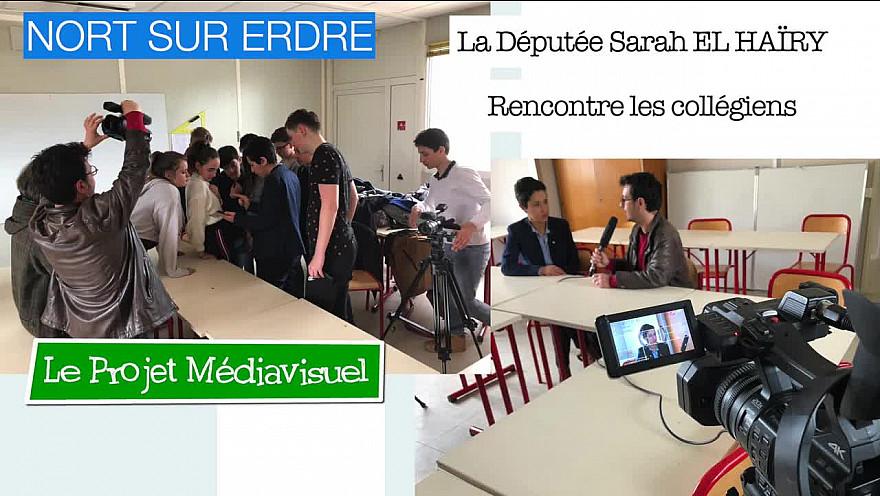 Les collégiens rencontrent Mme La Députée @villedenortsurerdre @ministèredelaculture @collége