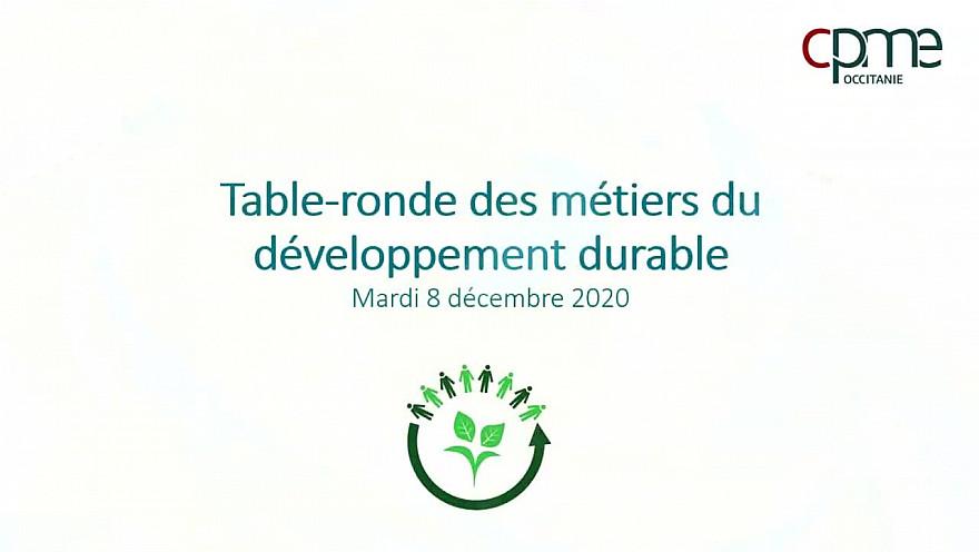 Table ronde des métiers du Développement Durable - Partie 1 Présentation des Intervenants @CPMEoccitanie @Occitanie @smartrezo @JacquesPoujade @N_Durand @cozynergy @ledrivetoutnu @TrakiJulie
