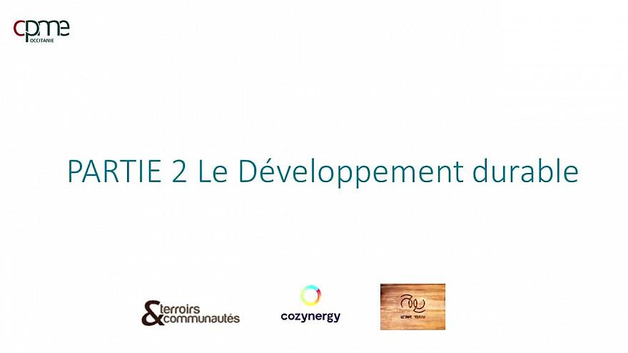 Table ronde des métiers du Développement Durable - Partie 2 Le développement Durable @CPMEoccitanie @Occitanie @smartrezo @JacquesPoujade @N_Durand @cozynergy @ledrivetoutnu @TrakiJulie