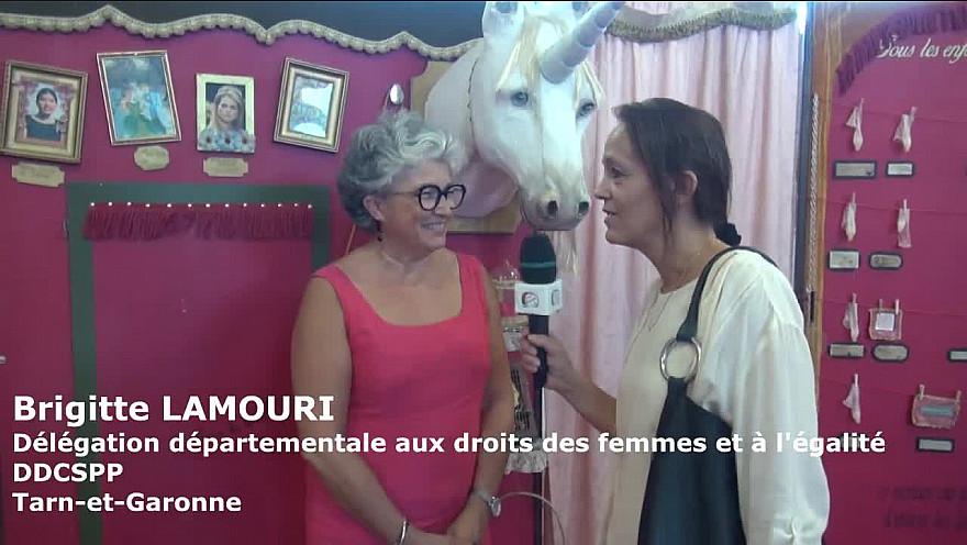 L'art au service de l'égalité au collège Olympe de Gouge. Interview de Brigitte Lamouri - Délégation départementale aux droits des femmes et à l'égalité DDCSPP