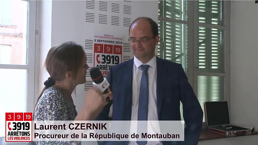 '3919 Arrêtons les Violences' Laurent CZERNIK, Procureur de la République de Montauban - 82 #GrenelleViolencesConjugales @MarleneSchiappa @Prefet_82 @justice_gouv