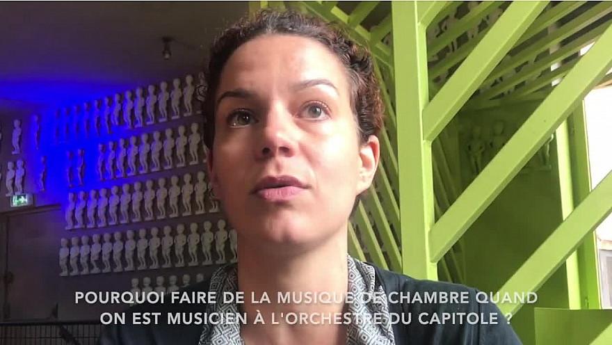 Emilie Pinel, clarinettiste à l'orchestre du Capitole, exprime ce qu'elle a trouvé dans la musique de chambre - Aux Clefs de Saint-Pierre, le Pierrot lunaire ! @ONCT_Toulouse