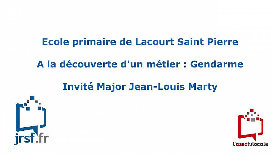 Ecole primaire de Lacourt Saint Pierre -  A la découverte d'un métier : Gendarme -  Invité Major Jean-Louis Marty @tvlocale_fr  @Gendarmerie 