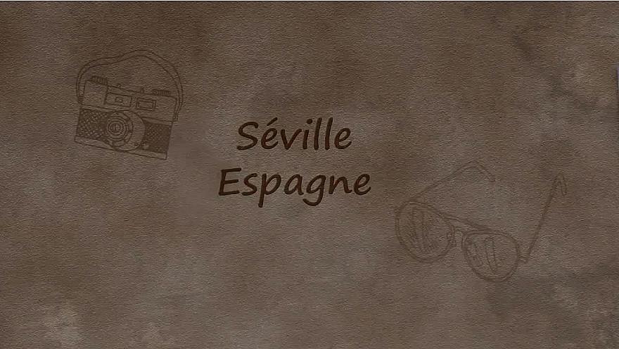 Stop à l'Isolement : Carte postale de Séville, Espagne