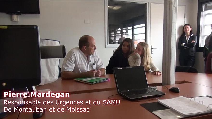 Visite des Urgences de Montauban par les Jeunes Reporters de l'association TvLocale Tarn-et-Garonne