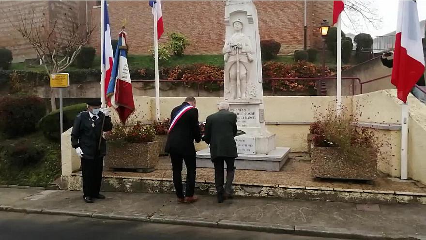 Commémoration du 102ème anniversaire de l'armistice à Ramonville en Haute-Garonne