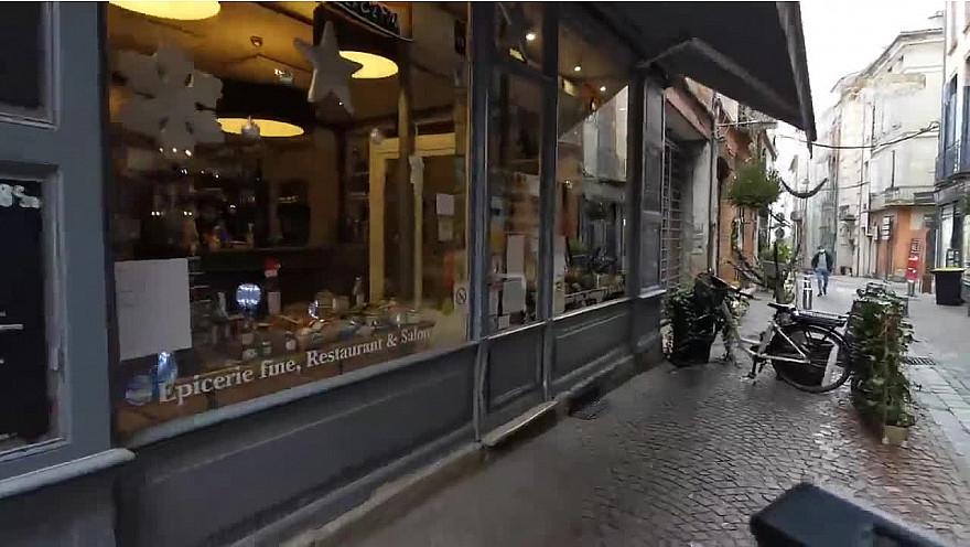 Les commerces de Montauban :  le traiteur 'Les Délices Gascon' rue des Carmes