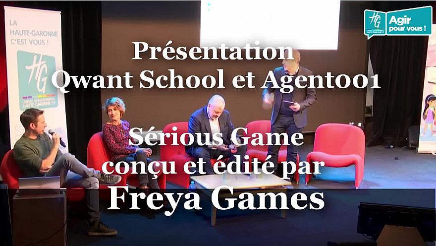 Présentation du Serious Game « Agent 001 » dans sa version collège par Willy Lafran et Pascale Garreau de Freya Games  @HGNUMERIQUE @HauteGaronne @sicoval31 @willy_lafran @Freya_Games @SavoirDevenir @Smartrezo