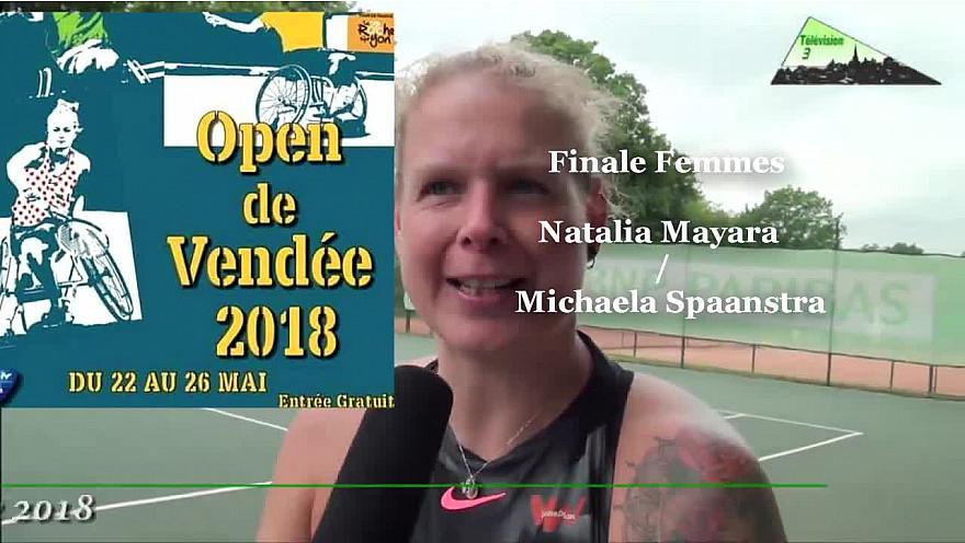 Open De Vendée Tennis-Fauteuil 2018: Finale gagnée par Michaela Spaanstra contre Natalia Mayara