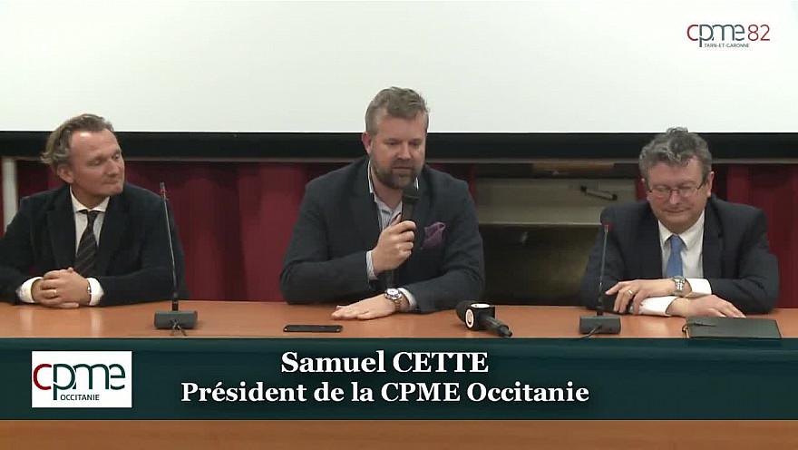 Samuel CETTE Président de la CPME Occitanie était présent à l'Assemblée Générale de la CPME 82 du 27 février 2020 @CPMEnationale @CPME82 @samcette