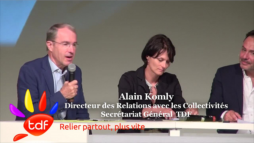 Intervention d'Alain KOMLY de TDF Groupe durant la 13ème édition de RURALITIC à Aurillac. @TDFgroupe @KomlyAlain @RURALITIC2018 @Smartrezo