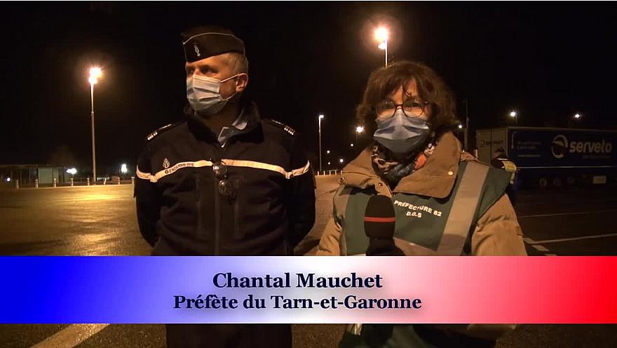 Préfecture de Tarn-et-Garonne : Contrôle du respect du Couvre-feu le soir du réveillon de la Saint-Sylvestre @Prefet_82