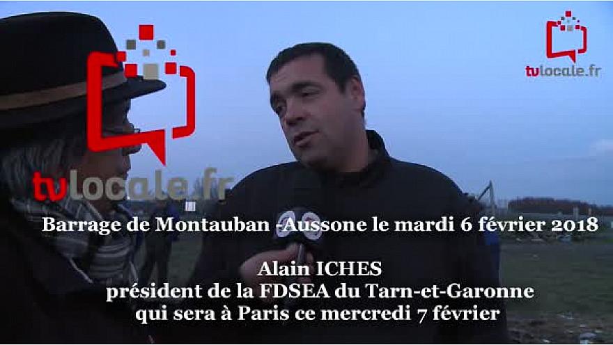 Carte Zones Défavorisées: Alain ICHES était comme chaque jour au barrage routier de Montauban avant de monter à Paris pour la rencontre finale au Ministère de la Culture @FNSEA