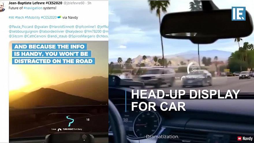 CES 2020 de Las Vegas : Navdy Système de navigation GPS #CES2020 #LasVegas @jblefevre60 @Ym78200 @pierrepinna @ipfconline1 @labordeolivier @tewoz @PironTristan @MichaGUERIN