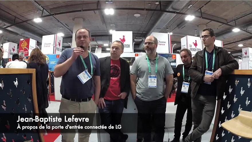 CES 2020 Las Vegas : Jean-Baptiste Lefevre a craqué pour la 'porte d'entrée connectée de LG' #CES2020 de #LasVegas @jblefevre60 @Ym78200 @pierrepinna @ipfconline1 @labordeolivier @tewoz @PironTristan @MichaGUERIN